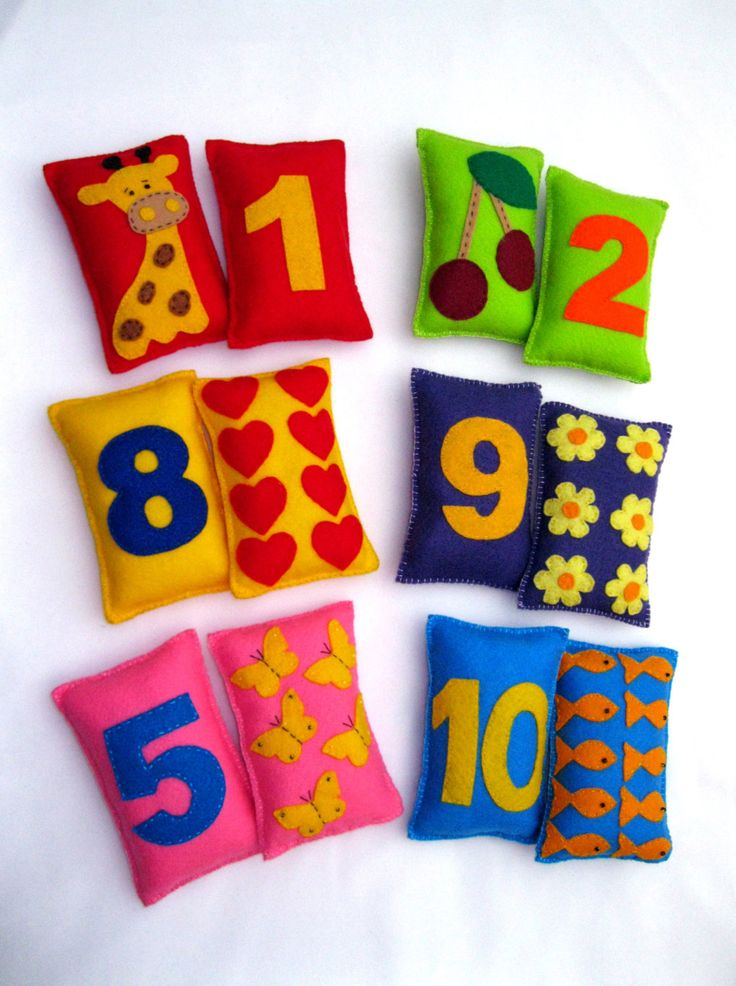 Felt Numbers -  Educational Game ,Colorful Numbers , Stuffet Numbers , Baby Game. $49.90, via Etsy.