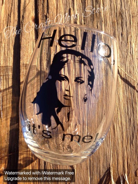 Hello It's Me  Funny Wine Glass  Adele  BFF by TheCraftNookStore #FavoriteEtsyShop