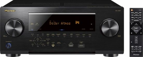 Pioneer - Elite 1260W 7.2-Ch. Network-Ready 4K Ultra HD and 3D Pass-Through A/V Home Theater Receiver - Black - Front_Zoom