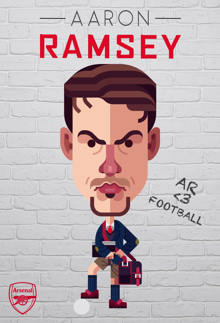 Aaron Ramsey was featured in our Arsenal v Burnley Matchday Programme. Illustration by © Daniel Nyari / iamdany.com