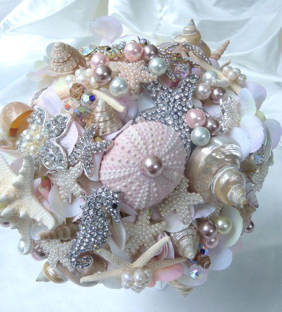 Seashell Brooch Bouquet