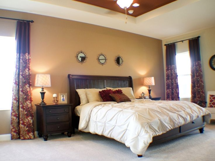 Spacious master suites provide sanctuary from the day  Highland Homes   Wyatt model home in. 76 best images about Magnificent Master Bedroom Suites on
