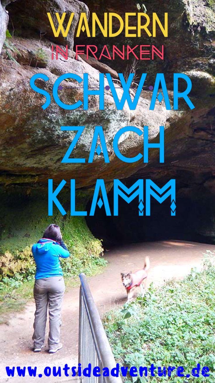 Wander in Franken - die gemütliche Wanderung in der Schwarzachtalklamm bietet rauschendes Wasser neben herrlichen Sandsteinformationen. Mehr dazu im Blog von Outside Adventure