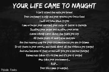 """""""Your Life Came To Naught"""" #Creative #Art in #poetry @Touchtalent http://bit.ly/Touchtalent-p"""