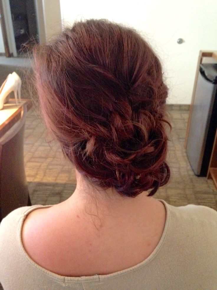 #updo #curly #bridesmaid
