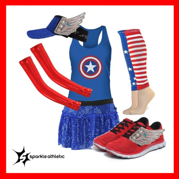 Captain America Running Costume | runDisney | Running | Race Costume | Disney | Sparkle Athletic | #TeamSparkle | Halloween | Athletic Costume | Marvel