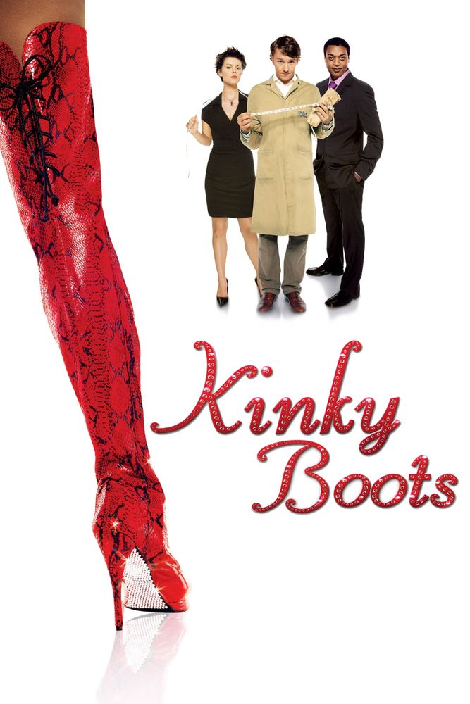 Kinky Boots Movie Poster - Chiwetel Ejiofor, Nick Frost, Sarah-Jane Potts  #KinkyBoots, #MoviePoster, #Comedy, #JulianJarrold, #ChiwetelEjiofor, #NickFrost, #Sarah, #JanePotts