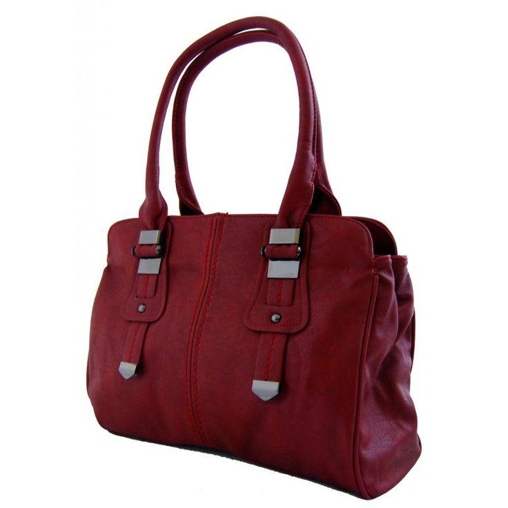 Dámská kabelka na rameno New Berry 804 vínově červená