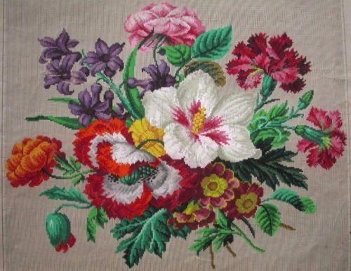 Gallery.ru / Фото #6 - Bouquet of garden flowers - Berlin pattern - lenadep