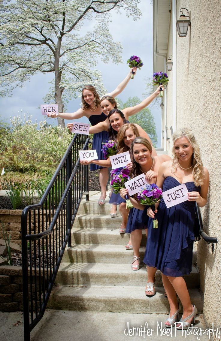 May Wedding- Bridesmaid Pose #wedding #bridesmaid Just Wait Til You See Her. Wedding Photography