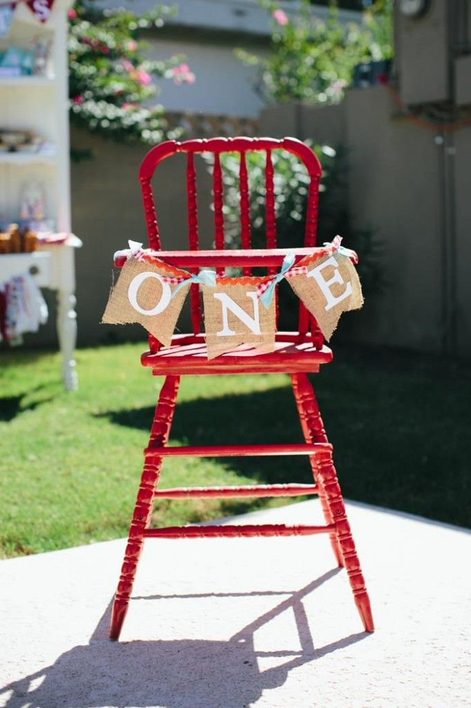 High chair compleanno