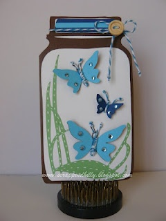 Butterfly Jar Card - Cards. - Cricut Forums: Cricut Forum, Scrapbook Cards, Cards Ideas, Cricut Cards, Butterflies Jars, June 2012, Cards Jars, Jars Cards, Kate Abc Cricut