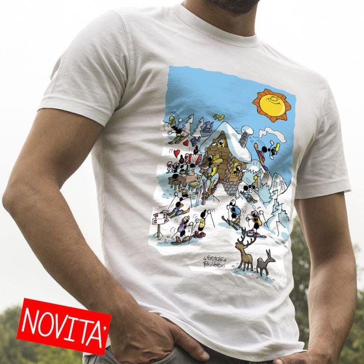 """T-shirt """"Baita""""   Le Formiche di Fabio Vettori  #formiche #t-shirt #magliette #winter #ski #montagna #inverno #snowboard #mountain"""