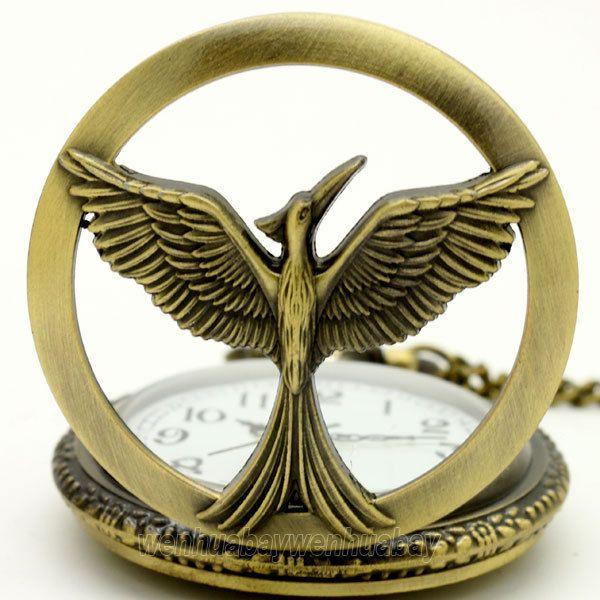Ретро Полые Ретро Феникс Кварцевые Карманные Часы Ожерелье Женщины Мужчины P229