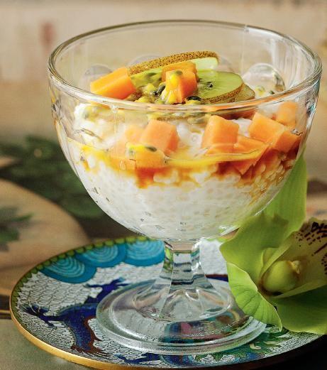 Sago Pudding with Fruit. A very popular gluten free dish in Asia! #Woolworths #recipe #dessert #chinesenewyear http://www.woolworths.com.au/wps/wcm/connect/Website/Woolworths/FreshFoodIdeas/Recipes/Recipes-Content/sagopuddingwithfruit