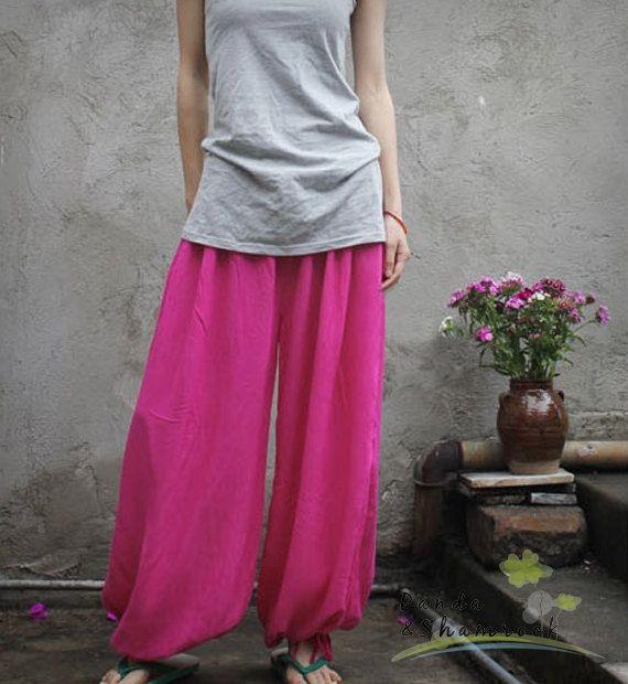 Yoga pants/women pants/wide/cotton by pandaandshamrock on Etsy