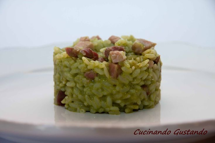 Risotto+con+crema+di+broccoletti+e+speck