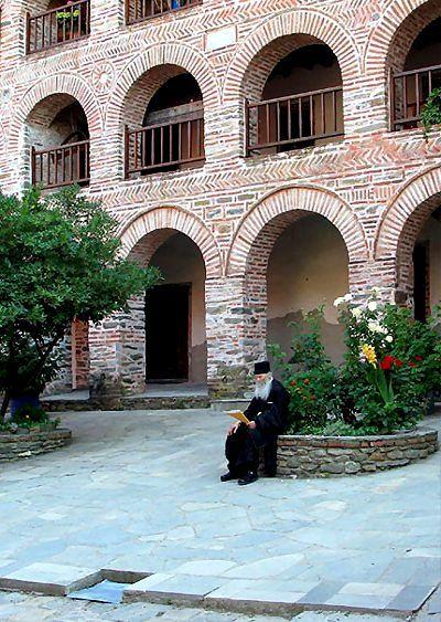 Koutloumousiou monastery, Mount Athos, Greece