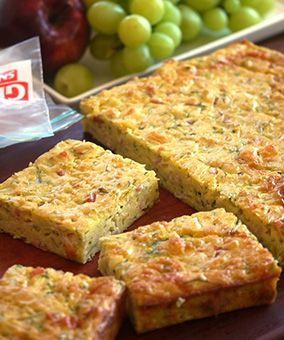 Zucchini Slice -Julie Goodwin The best zucchini slice recipe I've had and the…