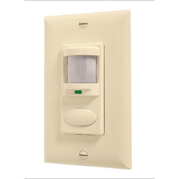 Lithonia Lighting Sensor Switch WSD IV , 1-Pole Ivory Passive Infrared Sensor (PIR - 1 pole - Ivory)