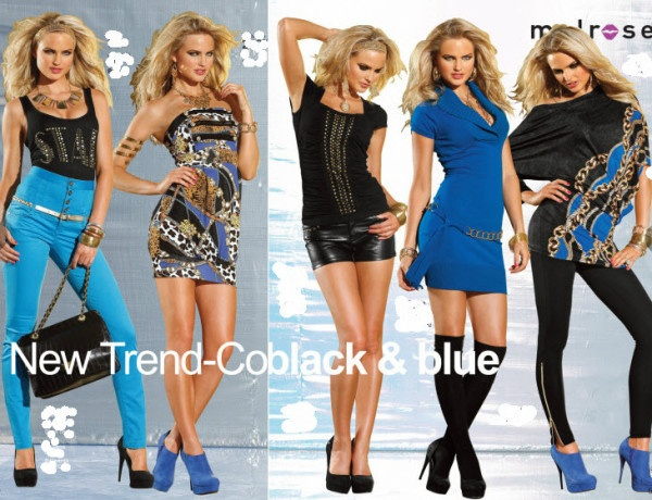 noul trend negru cu albastru