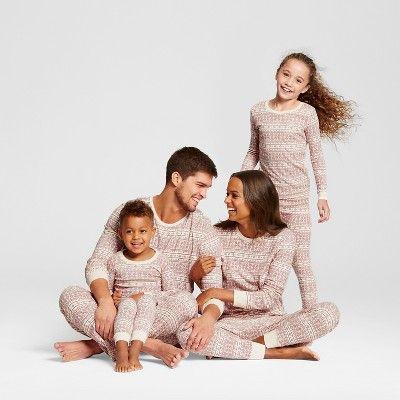 Burt's Bees Baby Kid's Organic Cotton Fair Isle Pajamas Ivory S, Kids Unisex, White