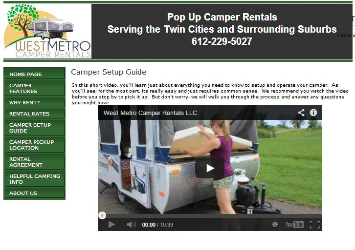 Our pops up camper rental MN are light weighted and perfect for your camping. Our member offers a wide variety of rental options including Minnesota camper rental, tent camper rental for your outstanding camping. For more info visit http://www.mn-rv-rental.com/