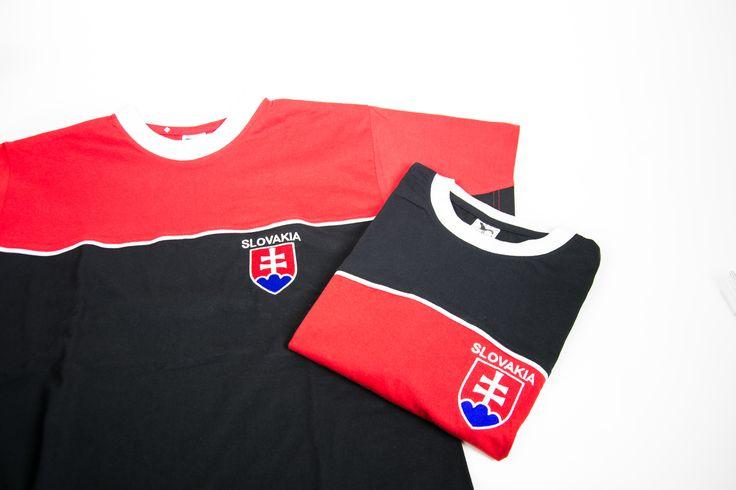 Tričko s výšivkou Slovensko / Slovakia T-shirt