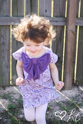 refashioned bow dress!