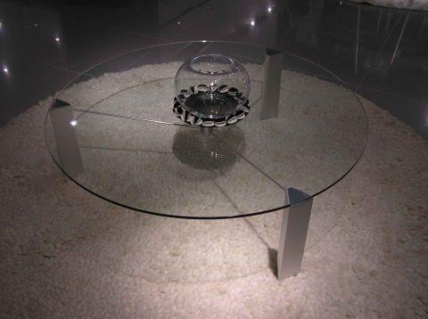 リビングテーブル ガラス 丸 ~ ガラステーブル