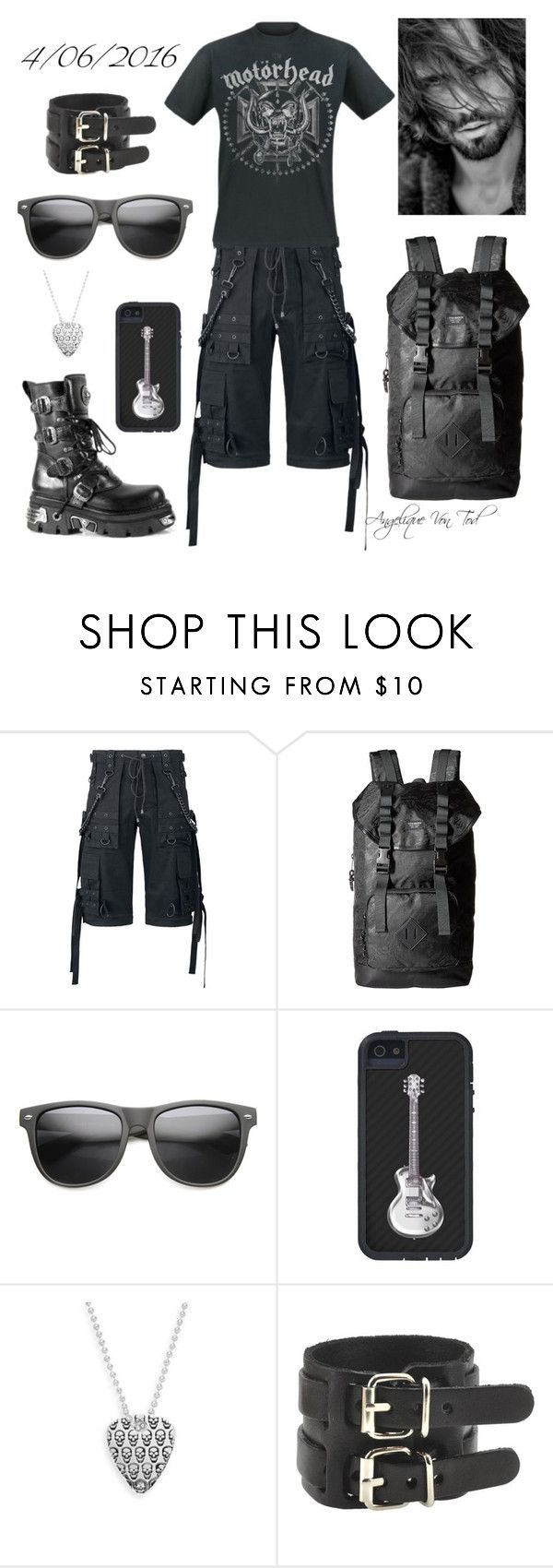 """""""Metal Outfit"""" by angelique-von-tod ❤ liked on Polyvore featuring Steve Madden, Jan Leslie, men's fashion and menswear"""