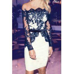 Black And White Long Women Dresses Cheap Sexy Shop Online | Nastydress.com