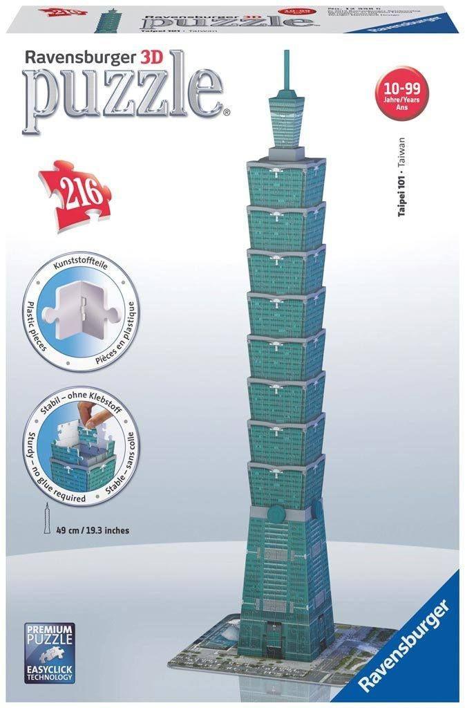 Taipei 101 Tower - 216 Piece 3D Jigsaw Puzzle
