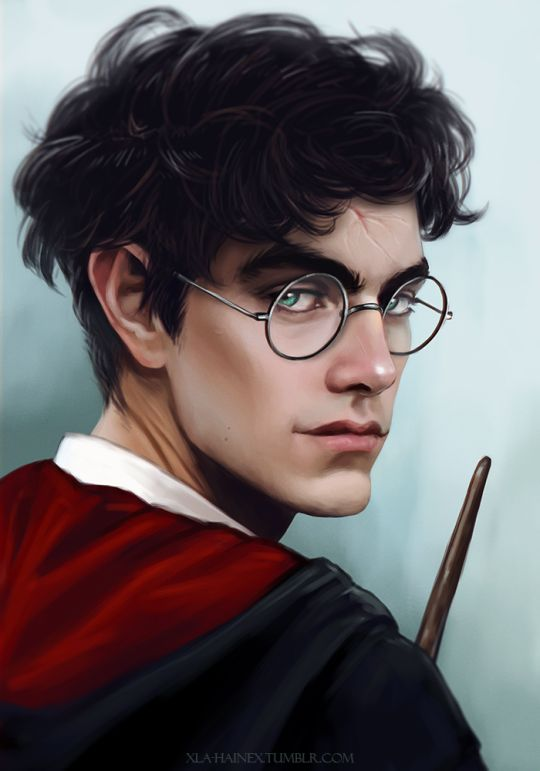 By Merlin's balls ! Finally ! Finally, Harry has a lightning looking scar, like actual lightning ! I love it so much