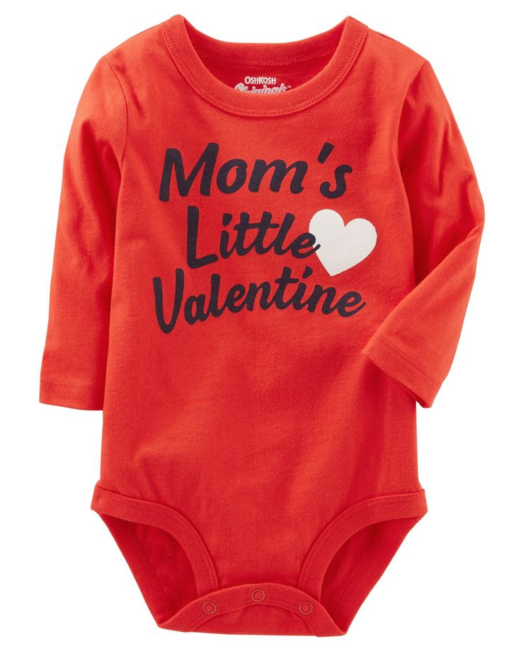 Let everyone know that your OshKosh kid is the only valentine you need with this super cute bodysuit! Pair this jersey bodysuit with joggers, jeans or overalls for a comfy outfit.