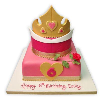 Princess Auroras Crown Cake - Love this! Idea number  2