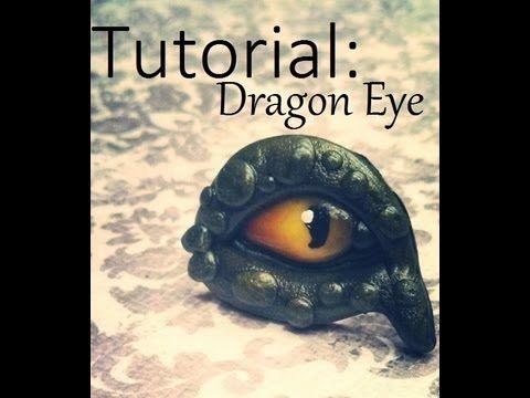 Polymer Clay Tutorial:Dragon eye - YouTube.  Looks like a Halloween Bunco project to me!