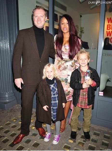 Rapper Eve with her new husband Maximillion Cooper and his children