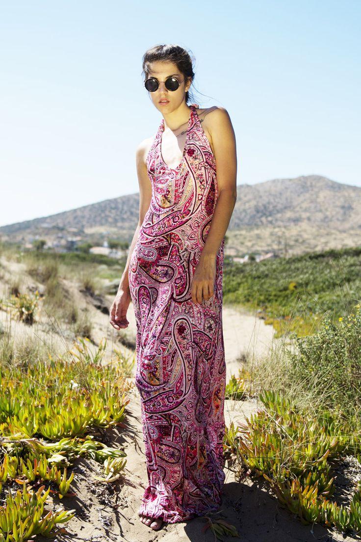 Backless Printed Φόρεμα - ΡΟΥΧΑ -> Φορέματα & Φόρμες | Made of Grace