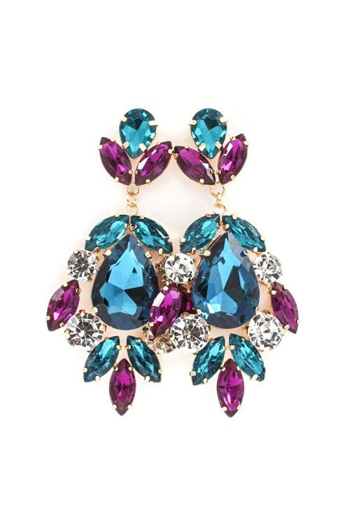 Millie Chandelier Earrings in Capri on Emma Stine Limited