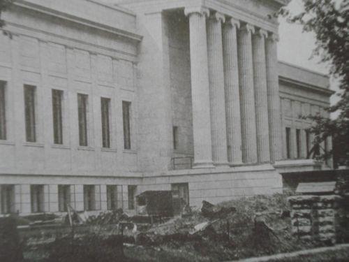 Minneapolis Museum of Fine Arts,Central Portion, Mpls., MN 1915, Lithograph. McKim, Mead, & White.