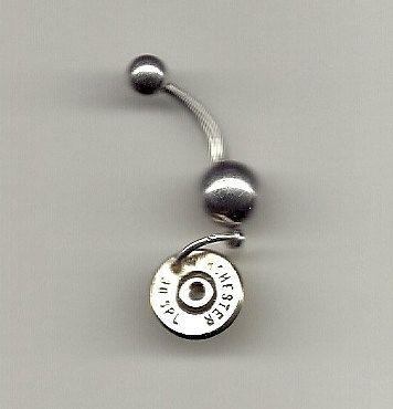 Jewelry  Navel belly ring Shot gun shell Spent by AnnieGetUGun, $16.95