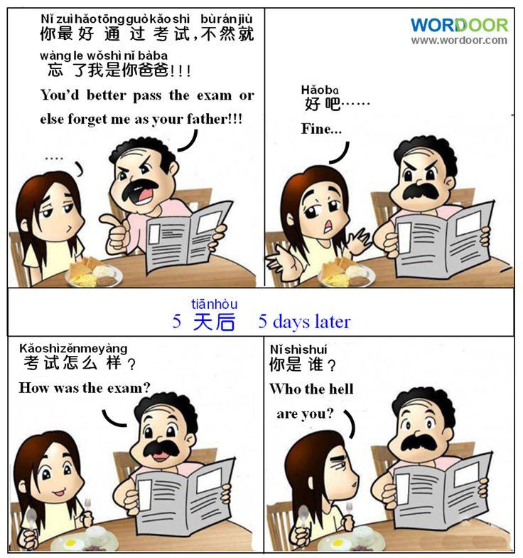 Wordoor Chinese - Chinese jokes # How was the exam?