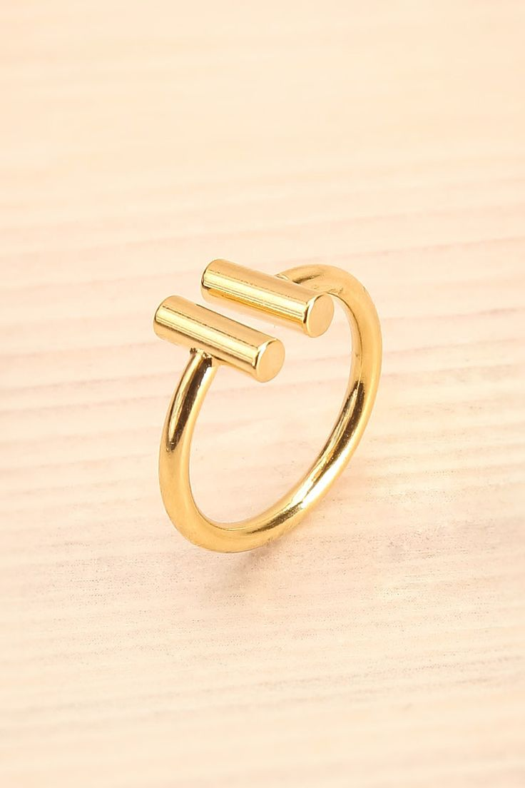 Fortis Or - Elegant gold open ring