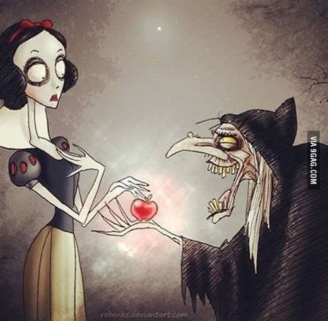 Snow White from Tim burton