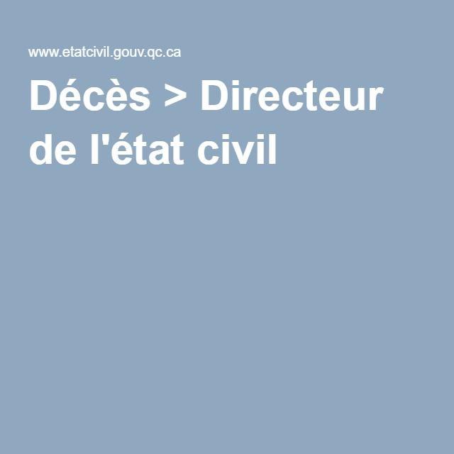 Décès > Directeur de l'état civil
