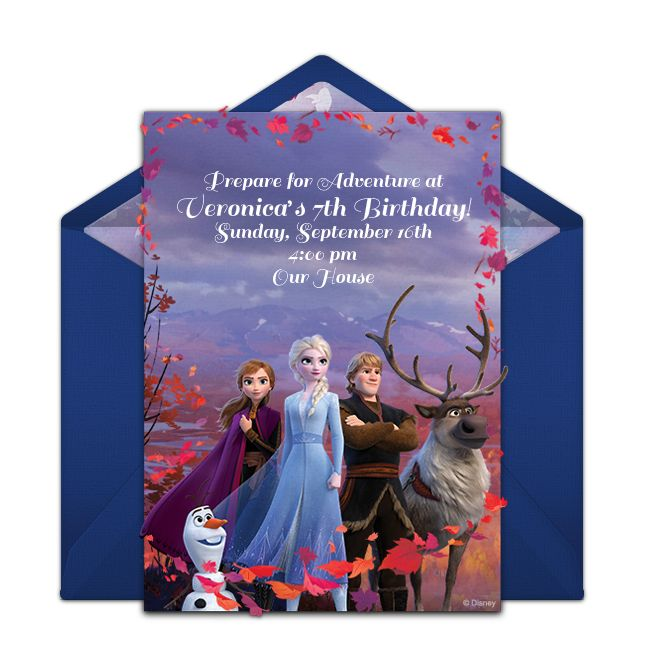 free frozen 2 group invitations