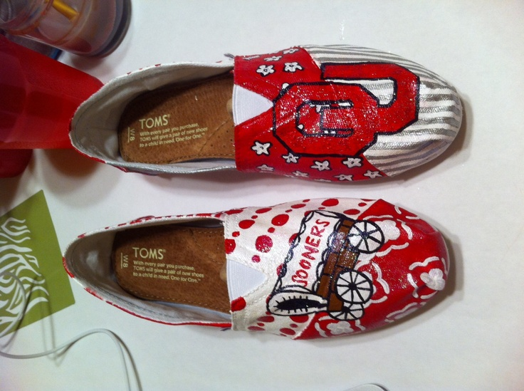 custom oklahoma sooners converse shoes