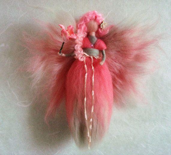 Waldorf inspired needle felted fairy by FaeriesatFaeFolk on Etsy
