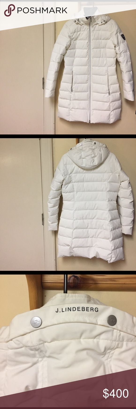 BNWOT women's aspen down J. Lindeberg jacket Perfect condition - like wrapping yourself in a comforter - the warmest jacket possible. Premium down filled, 4 way stretch fabric, super comfortable. White, size medium J. Lindeberg Jackets & Coats Puffers